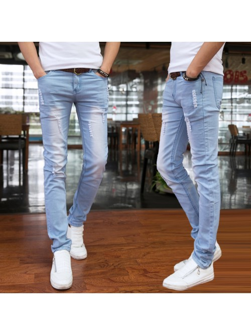Spring and Summer New Men's Jeans Pant Korean Styl...