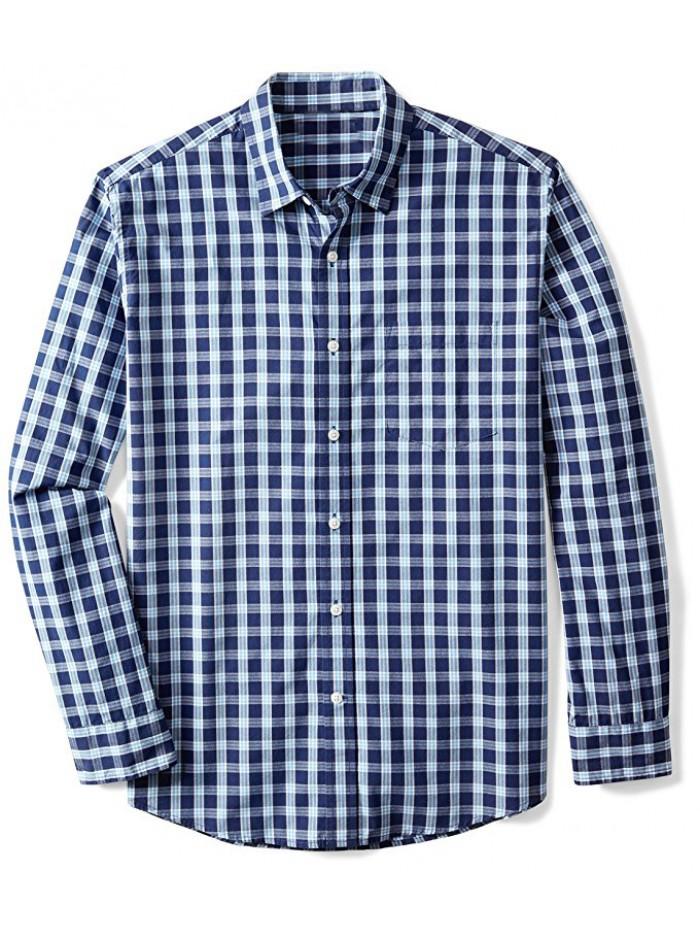 Men's Regular-Fit Long-Sleeve Plaid Shirt