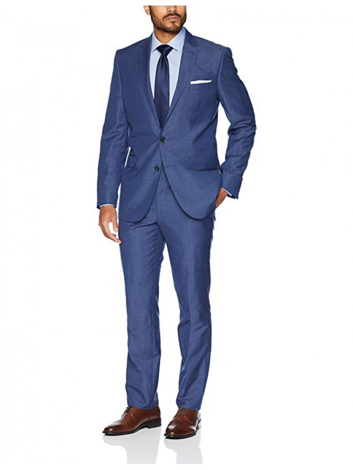 Men's Slim Fit 2 Button Wool Stretch Suit