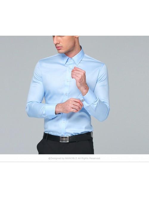 Men's Dress Shirt Cotton New Regular Fit Cufflink ...